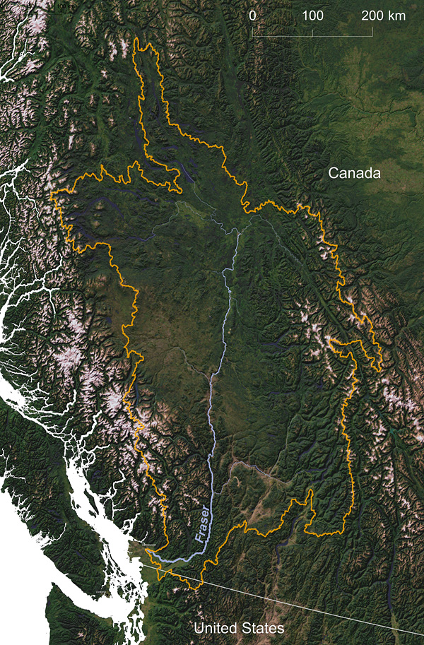 Fraser River watershed © Greg Fiske, WHRC