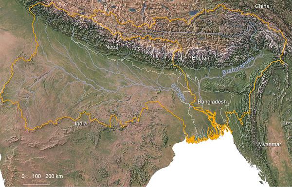 Ganges-Brahmaputra watershed © Greg Fiske, WHRC