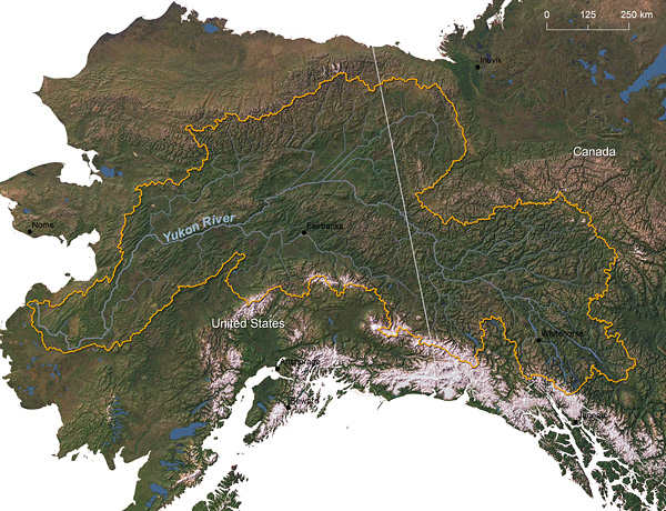 Yukon River watershed © Greg Fiske, WHRC